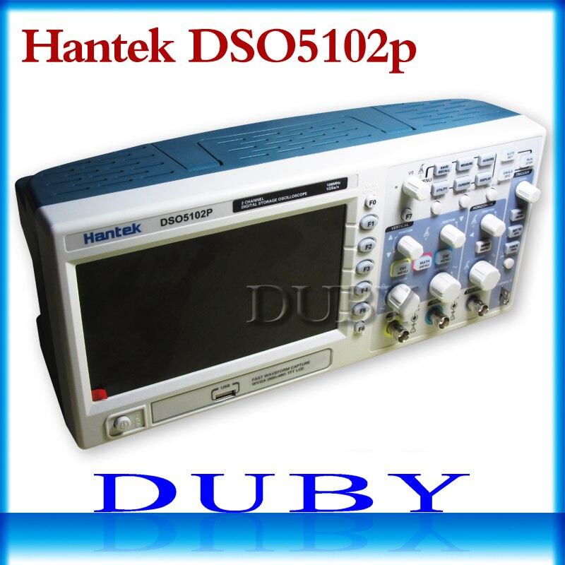 Osciloscópio de armazenamento digital de hantek dso5102p 100mhz 2 canais 1gsa/s 7 tft tft lcd melhor do que ads1102cal +