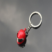 High Quality  Creative Motorcycle Bicycle Helmet Key Chain Ring Keychain Keyring Key Fob