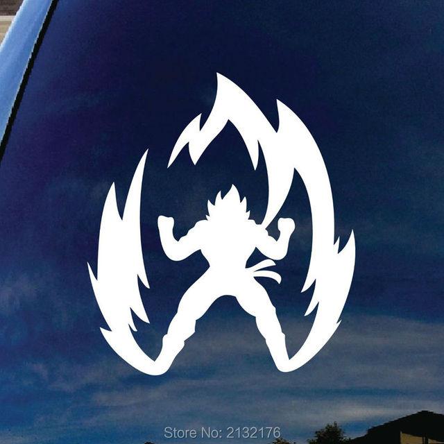 Super saiyan goku dragon ball z die cut vinyl decal for window car truck macbook virtually
