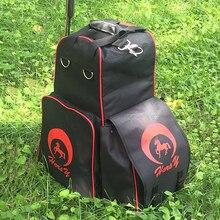 Оксфорд Верховая езда сапоги шлем сумка для переноски водонепроницаемый наездник вещевой мешок