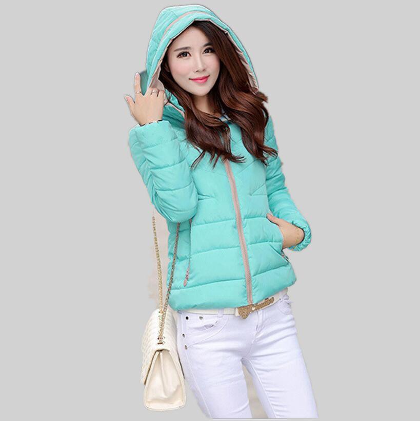 2016 последние зимние женская мода пуховик с капюшоном утолщаются супер теплый полупальто свободно большие ярдов хлопка-проложенный одежды sj1174