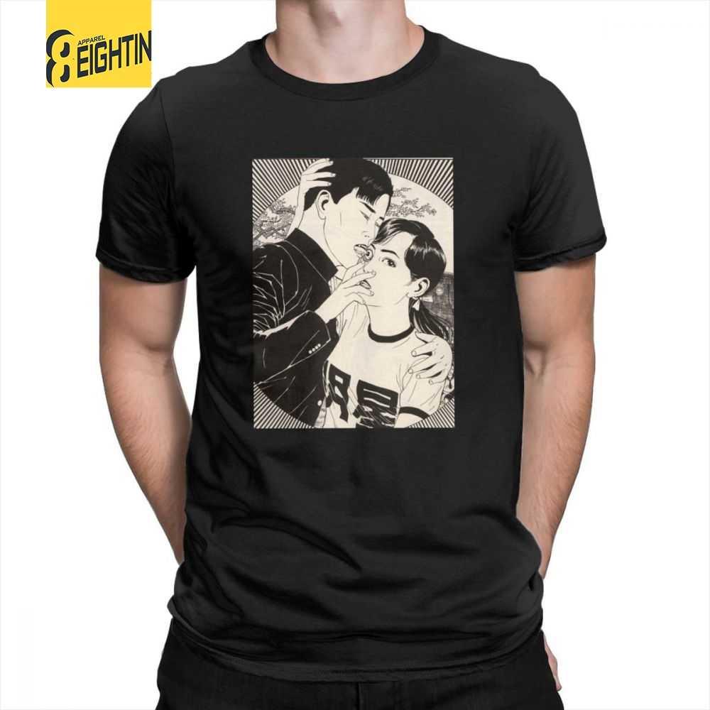 cb6b526f065 Suehiro Maruo T Shirts Lick Cult Short Sleeves O-Neck Men s T-Shirts Japan