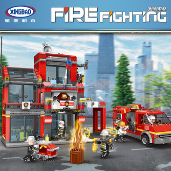 XINGBAO 14006 City Series The Fire Squadron Set Firefighting Building Blocks Christmas Gifts For Kids Educational Toys