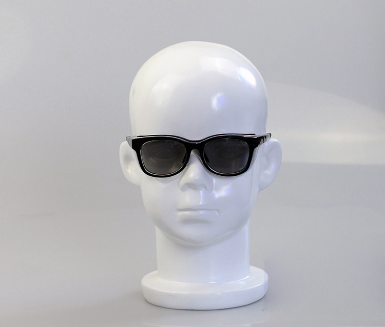 Fashionable Style Fiberglass Gloss White Mannequin Child Head Model Head Manikin Hot Sale