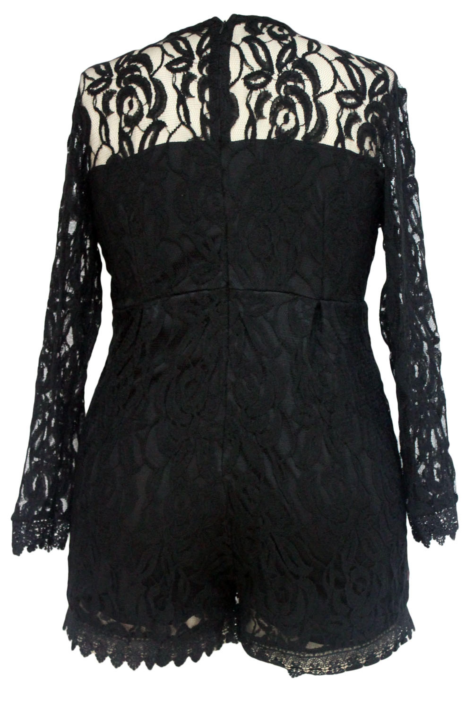 Black-Plus-Size-Long-Sleeve-Lace-Romper-LC60599-2-5