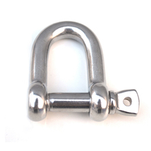 4 pieces/lot M5 304 Stainless Steel D shackles  for connections of chains or steel rope paracord bracelet Survival Buckles