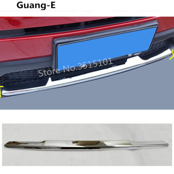 Car cover protection ABS Chrome trim Front bottom Racing Grid Grill Grille bumper edge part 1pcs For Jeep compass 2017 2018 2019 grille