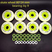 Роликовые колеса Скейт колеса 80 мм 8 шт./лот 85 подшипник ABEC-9