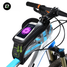 "Rockbros MTB Road Bike Bag Waterproof Bicycle Front Saddle Bag Cycling Top Front Tube Bags 5.8"" 6"" Touchscreen Phone Case"