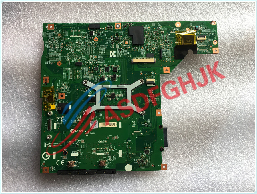 Купить с кэшбэком Original FOR MSI CX61 CR60 LAPTOP MOTHERBOARD EDP MS-16GD MS-16GD1  fully tested