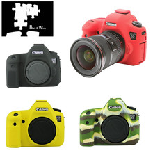 Silicone Armor Skin Case Body Cover Protector for Canon EOS 6D Body DSLR Camera ONLY