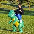 Взрослый размер tyrannosaurus rex динозавра надувные одежда всадника надувные Хеллоуин костюм одежда надувные ПВХ материал