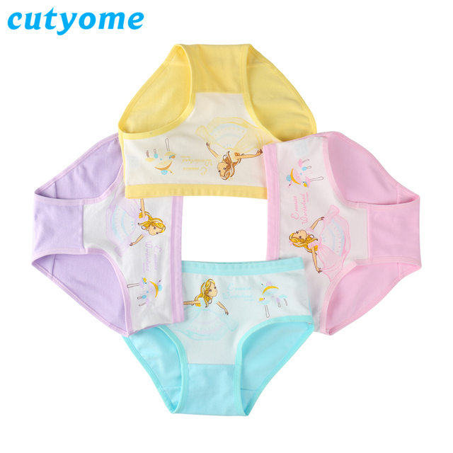 b4b8e2b17011f 4pcs lot Cotton Briefs for Teenagers Toddlers Kids Underwears   Princess  Costumes Girls Panties Boxer Shorts Children Underpants