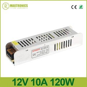 Новый 12 В 10A 120 Вт тонкий Питание Мощность источник AC/DC адаптер переключатель драйвера для авто Светодиодные ленты свет модуль 110 В/220 В
