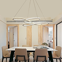 Double Glow Modern Led Chandelier For Kitchen Dining Living Room Suspension Luminaire Hanging Pendant Chandeliers Fixtures