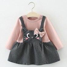 Baby Dress Baby Girl Flower Petal Shell Princess Dress Children Dress Cat Pattern Dress Baby Girl Winter 40