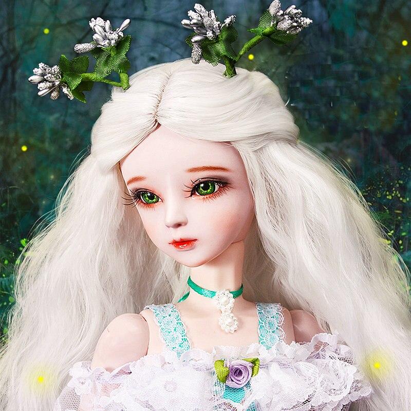 60CM Handmade Bjd 1/3 księżniczka lalki z peruka ubrania duży 23 elementy drewniane łączone na przegubowe lalki dziewczyny zabawki urodziny prezent na Boże Narodzenie w Lalki od Zabawki i hobby na  Grupa 1