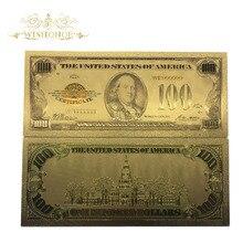 100 шт/партия 1928 год издание американского 100 доллара банкнота из золотой фольги поддельные бумажные деньги USD банкнота для подарка
