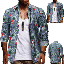 Men's Summer Striped Blouse Casual Slim long Sleeve Printed Shirts Top Camisas estampadas 2015 camisas