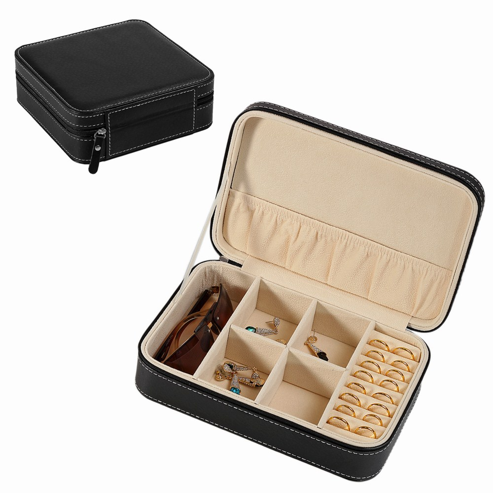Многофункциональный подарок, роскошный картон, бархатная подкладка, черная искусственная кожа, дорожные солнцезащитные очки, кольца, ювели