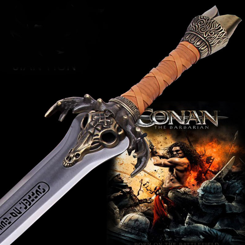 Conan il Barbaro Re Padre spada Excalibur sword 1:1 In Acciaio Inox collector puntelli cosplayConan il Barbaro Re Padre spada Excalibur sword 1:1 In Acciaio Inox collector puntelli cosplay