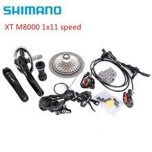 시마노 DEORE XT M8000 170/175mm 30T 32T 34T 크랭크 셋 마운틴 바이크 그룹 세트 1x11 속도 40T 42T 46T M8000 g03s 브레이크