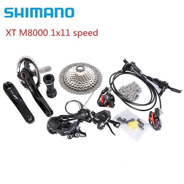 SHIMANO DEORE XT M8000 170/175mm 30T 32T 34T Crankset Mountain Bike Groupset 1x11 Speed 40T 42T 46T M8000 g03s Brake