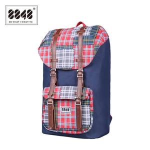 Image 2 - حقيبة ظهر للسفر من علامة تجارية 8848 حقيبة ظهر مقاومة للماء مقاس 15.6 بوصة حقيبة ظهر من مادة البوليستر بتصميم هندسي S15005 6