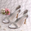 Magic Custom Handmade Fashionable Crystal High Heels Sandals Wedding Summer Bridal Shoes