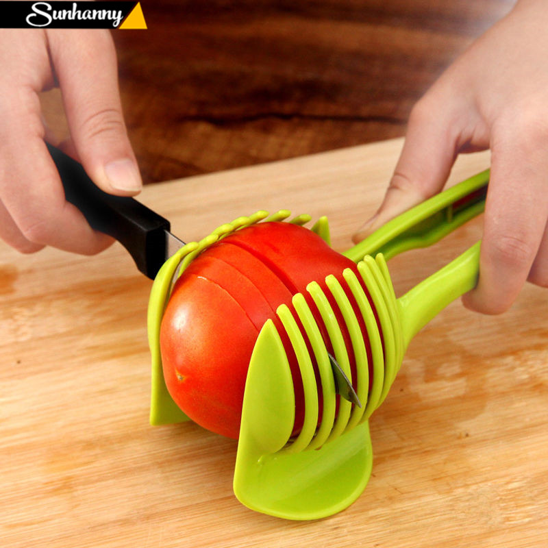 Sunhanny Plastic Potato Slicer Tomato Cutter Tool Shreadders Lemon Cutting Holder Cooking Tools Kitchen Accessories