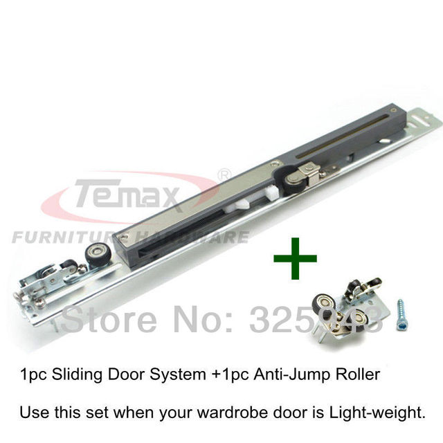 Armoire Hanging Wheel Sliding Door System Furniture Hardware Kitchen  Cabinet Wardrobe Damper Buffer