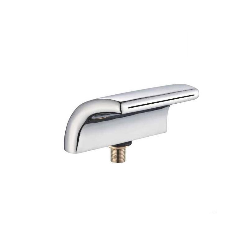 1pcs Burst section Flat arc type Copper chromned massage bathtub waterfall faucet 5 25 355mm arc gouging flat carbon rod copper coated 20pcs
