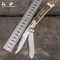 HX OUTDOORS Survival knives pocket double knife gift good quality portable carry knife tool Survival Gear army survival knives