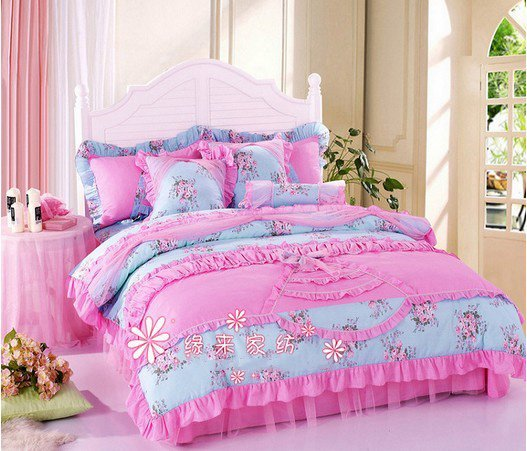 120383  Fedex free shipping! wholesale Romantic princess bed/bedding set/girls room