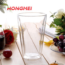 400 ml Doppelwandigen Glastasse Klar, Beständig Handgemachte Mini Kungfu tee Tasse Kaffee Milch Saft Gesundes Getränk Doppelschicht Glas becher