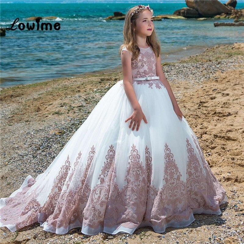 Beatuiful Pageant   Dresses   For   Girls   2018 Custom Made   Flower     Girl     Dresses   For Weddings 2018 Vestido De Daminha Communion   Dresses