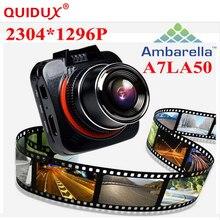 Big sale QUIDUX Ambarella A7 LA50 XHD 1296P Car DVR DashCam GS52D G52D Mini Car Camera Recorder Time Lapse LDWS/FCWS GPS(Optional)