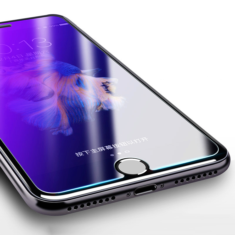 KIP71384_6_Anti Blue Light Tempered Glass for iPhone 6 6S 7 8 Plus XS XR XS Max 9H 2.5D Protective Film
