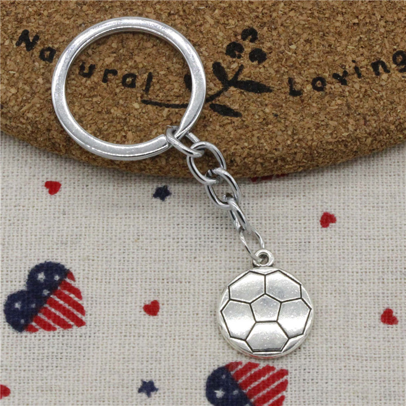 New Fashion Double Sided Football 18*21mm Pendant KeyChain