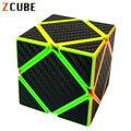 Z-Fibra De Carbono cubo Skewb Adesivo Magico Cubo de Velocidade Cubo Mágico Fidget Irregular Blocos de Tijolos Brinquedos Educativos para Crianças
