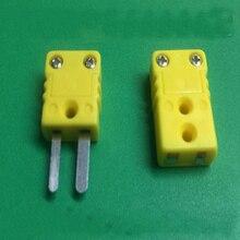 Ücretsiz kargo 100 adet termokupl K tipi sıcaklık sensörü konektörü erkek soket hızlı bağlantı