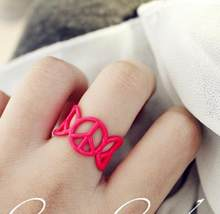 New Arrival fashion toe ring women Novelty gold midi ring girl hand knuckle rings with anti-war signs(China)