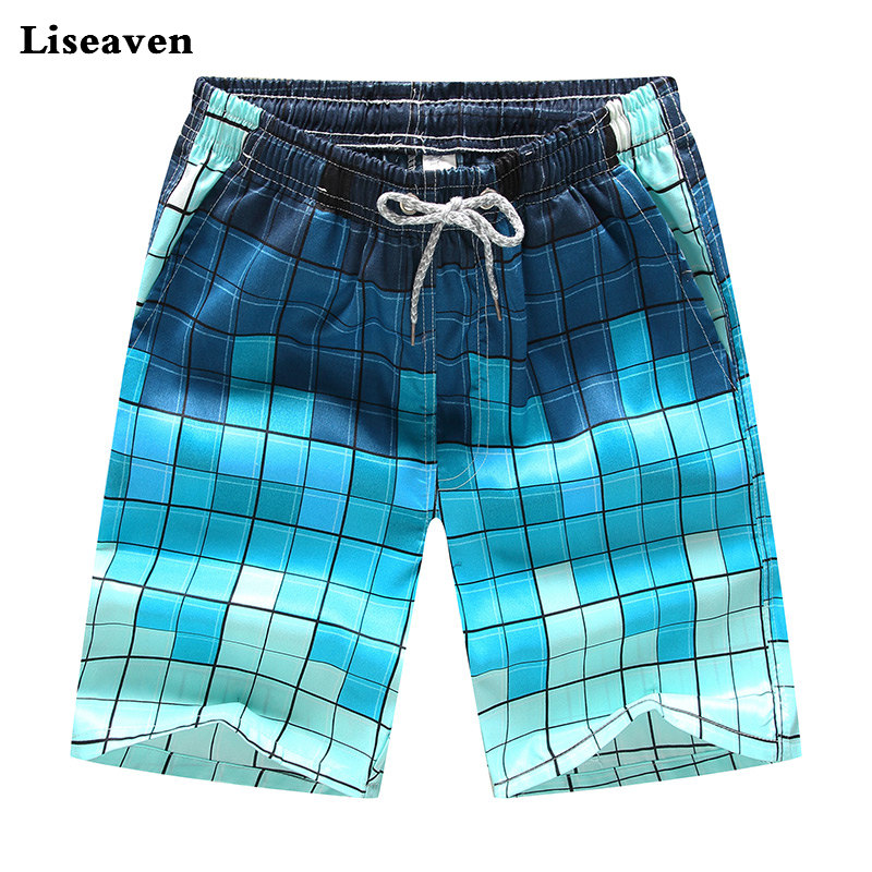 Liseaven Board Shorts Men's Clothing Shorts Men Quick Dry Boardshorts Men's CasualShorts