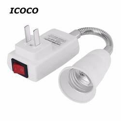 Практичный E27 лампы накаливания адаптер конвертер гибкий удлинитель держатель светодио дный лампочки основание светильника с розеткой