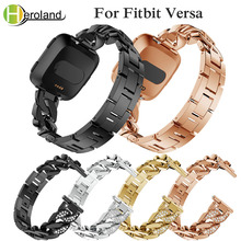 Wrist Band for Fitbit Versa lite Accessories alloy bracelet Replace WatchBands Smart band Strap Luxury Denim chain with diamonds