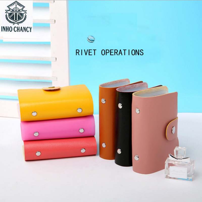 Online Shop Inho Chancy 24 Bits Ctedit Card Holder High Quality Pu