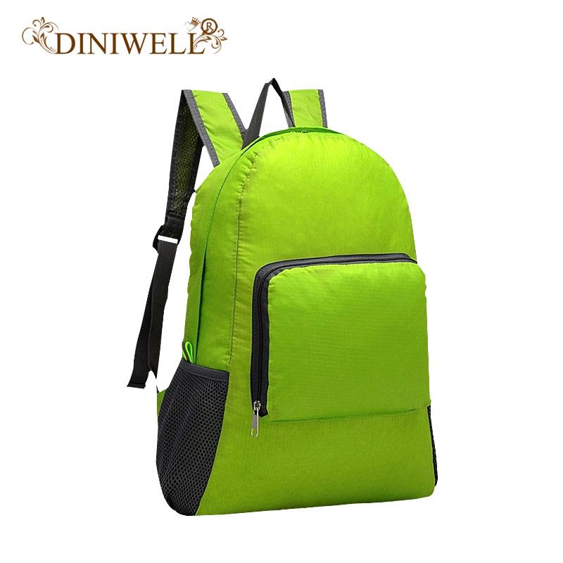 DINIWELL Ringan kalis air boleh dilipat perjalanan ransel beg Daypack Sukan Hiking Kembara Travel Storage Organizer