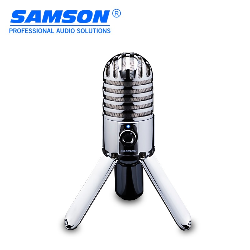 100 Original SAMSON Meteor Mic USB condenser microphone Cardioid for computer notebook network for Skype iChat