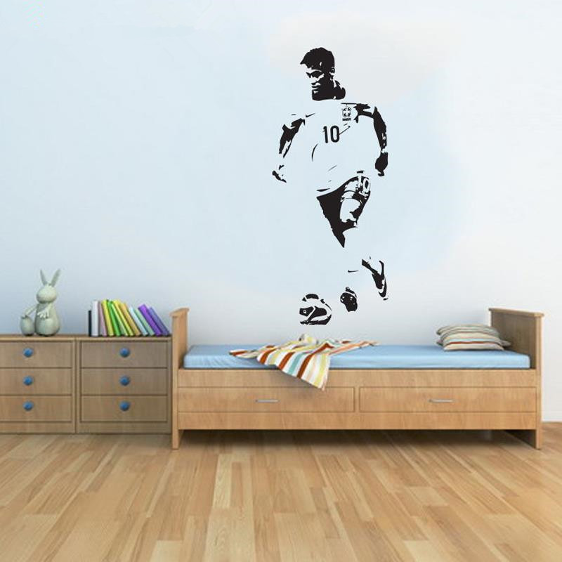 Large Neymar Brazil Football Soccer Wall Art Decal Wall Sticker Wall  Stickers For Kids Rooms Adesivo De Parede Infantil In Wall Stickers From  Home U0026 Garden ...
