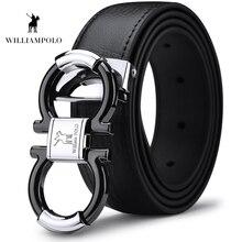 Williampolo erkek katı hakiki deri toka ile otomatik kilit deri 35MM Drop Shipping PL18385 86P